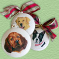 Pet Ornaments on Bisque